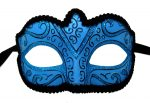 Vivid Blue Mask with Black Trim