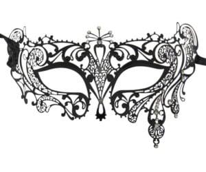 Metal Filigree Crystal Burst Masquerade Mask