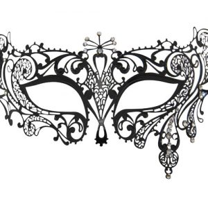 Metal Filigree Crystal Burst Masquerade Mask