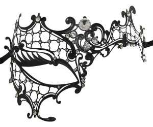 Metal Filigree Phantom Masquerade Mask