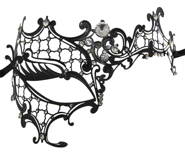 Metal Filigree Phantom Masquerade Mask