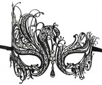 Metal Filigree Swan Masquerade Mask