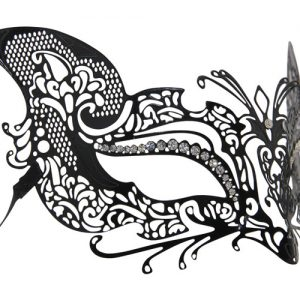 Metal Filigree Fox Masquerade Mask