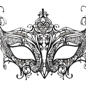 Metal Filigree High Point Masquerade Mask
