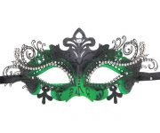 Metal Filigree Green Masquerade Mask