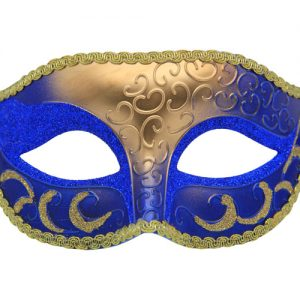 Classic Blue And Gold Venetian Mask