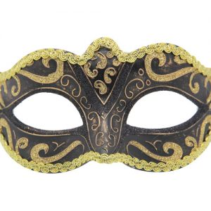 Classic Black And Gold Venetian Mask