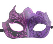 Purple and Black Masquerade Mask with Glitter