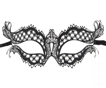 Metal Filigree Butterfly Masquerade Mask