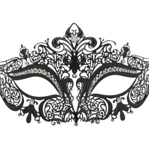 Metal Filigree Crown Masquerade Mask