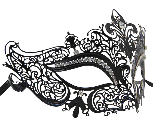 Metal Filigree Crown Masquerade Mask
