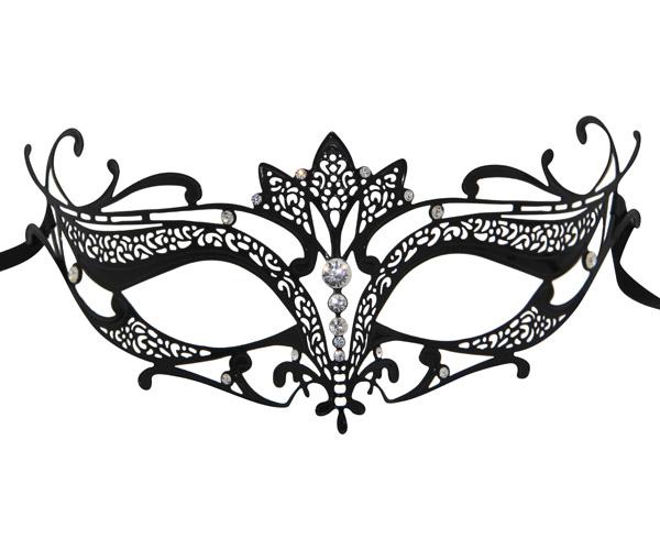 Metal Filigree Masquerade Mask With Lotus Flower Detail