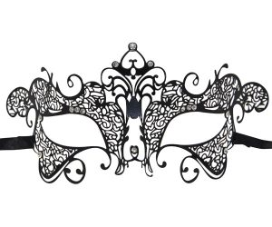 Metal Filigree Curved Masquerade Mask
