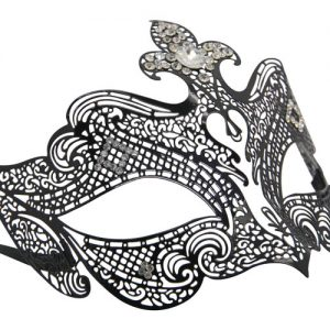 Metal Filigree Mask with Large Crystal