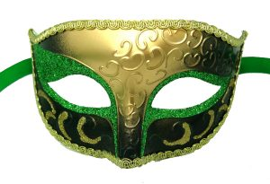 Classic Green And Gold Venetian Mask