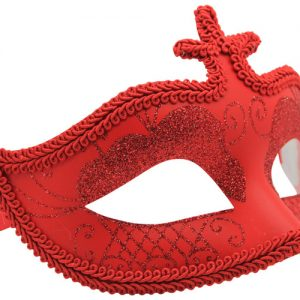 Vibrant Red Masquerade Mask