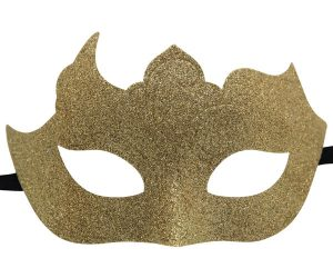 Glitter Mask in Classic Gold