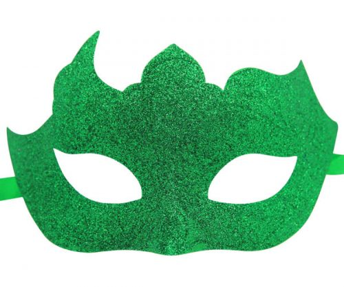 Glitter Mask in Emerald Green