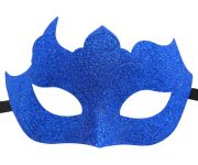 Glitter Mask in Vibrant Dark Blue