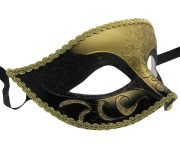 Venetian Black and Gold Masquerade Mask