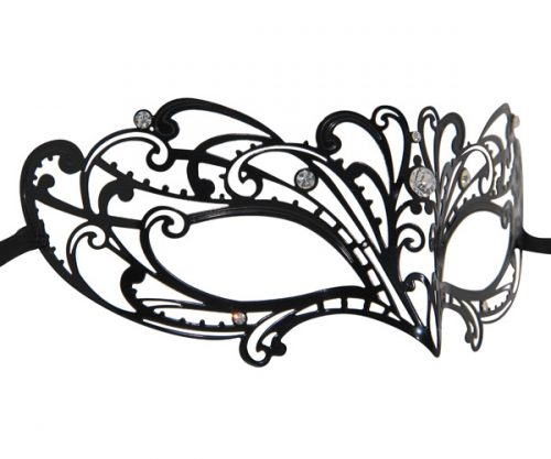 Metal Butterfly Wave Filigree Masquerade Mask