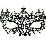 Metal Filigree Swirl Masquerade Mask