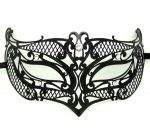 Metal Filigree Crosshatch Masquerade Mask