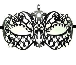 Metal Filigree Chandelier Masquerade Mask