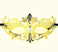 Gold Metal Filigree Lotus Masquerade Mask