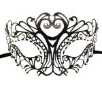 Heart Metal Filigree Mask