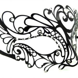 Heart Centerpiece Metal Filigree Mask