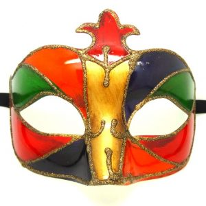 Vibrant Multi Coloured Venetian Masquerade Mask