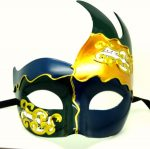 Blue, Gold and Green Venetian Mask