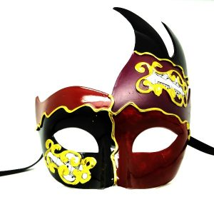 Purple and Red Venetian Mask