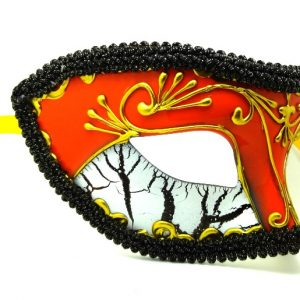 Orange Masquerade Mask