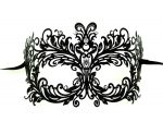 Floral Metal Filigree Masquerade Mask with Crystals