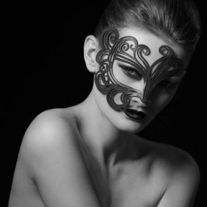 Real Leather White Mask