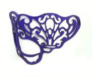 Petite Purple Victorian Real Leather Mask