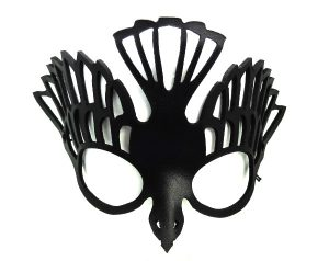 Black Sparrow Bird Real Leather Mask