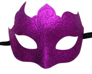 Glitter Mask in Magenta