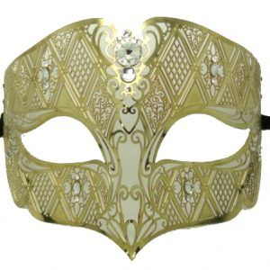Gold Metal Royal Filigree Masquerade Mask