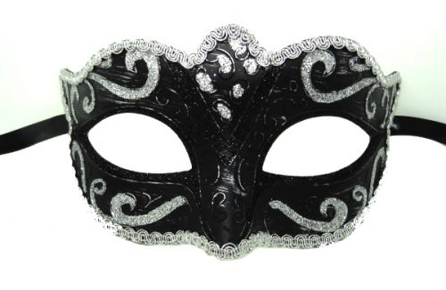 Classic Black And Silver Venetian Mask