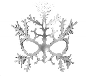 Silver Snowflake Authentic Leather Mask