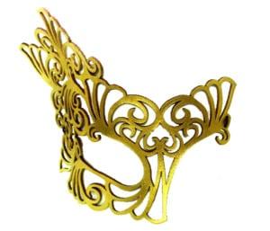 Golden Goddess Authentic Leather Filigree Mask