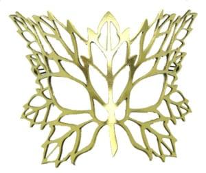 Golden Autumn Authentic Leather Filigree Mask