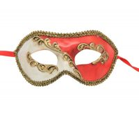 Classic Red Abstract Venetian Mask