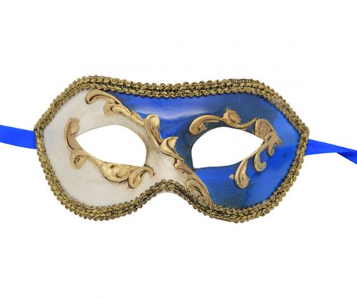 Classic Blue Abstract Venetian Mask