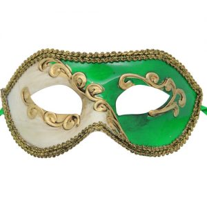 Classic Green Abstract Venetian Mask