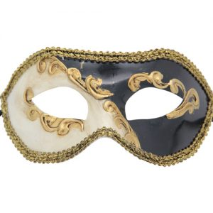 Classic Black Abstract Venetian Mask