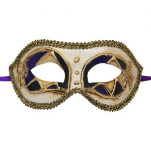 Black, Purple and Gold Venetian Mask